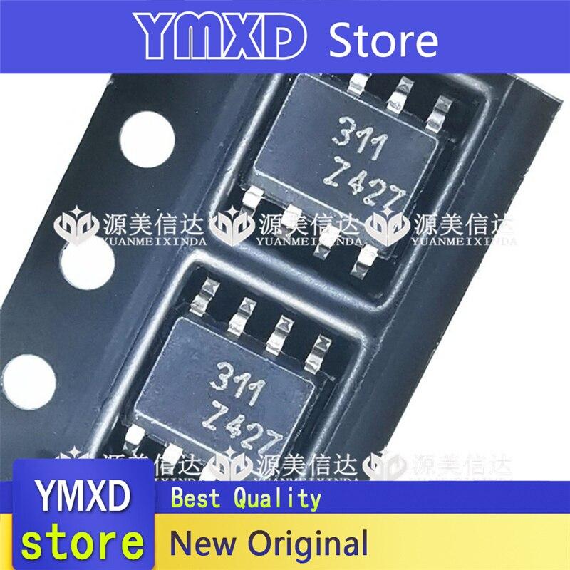 10 pçs/lote novo original lm311dt tela de seda 311 lm311 remendo sop-8 linear ic chip comparador em estoque