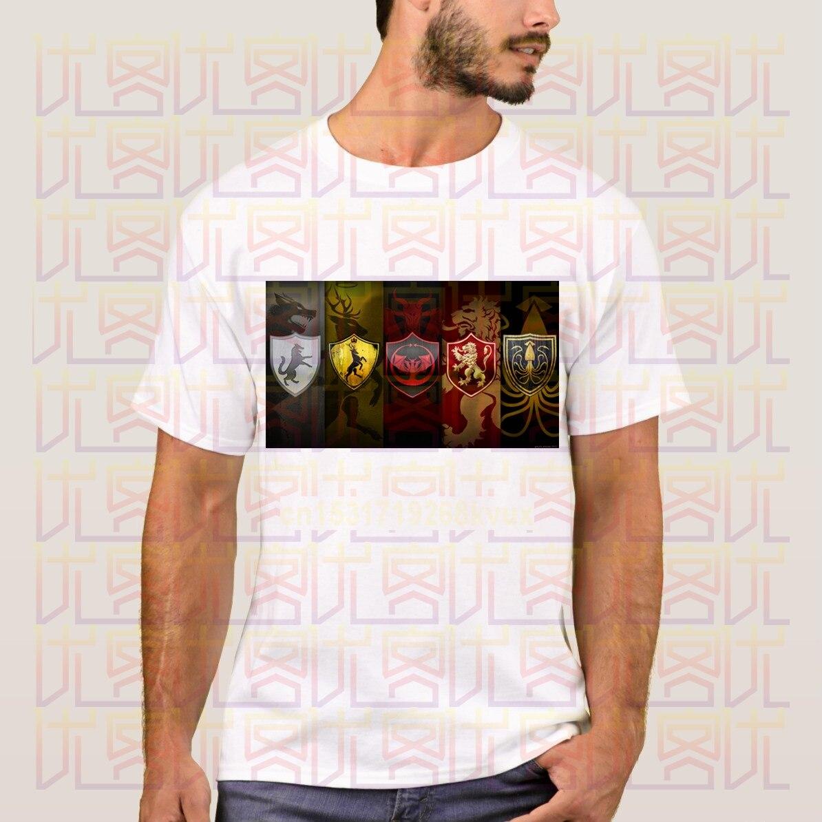 Novedad verano 2020, camiseta Casual Unisex de algodón con el Logo de Juego de tronos de la Casa Lannister 100%, regalo para hombre, camisetas S-4XL