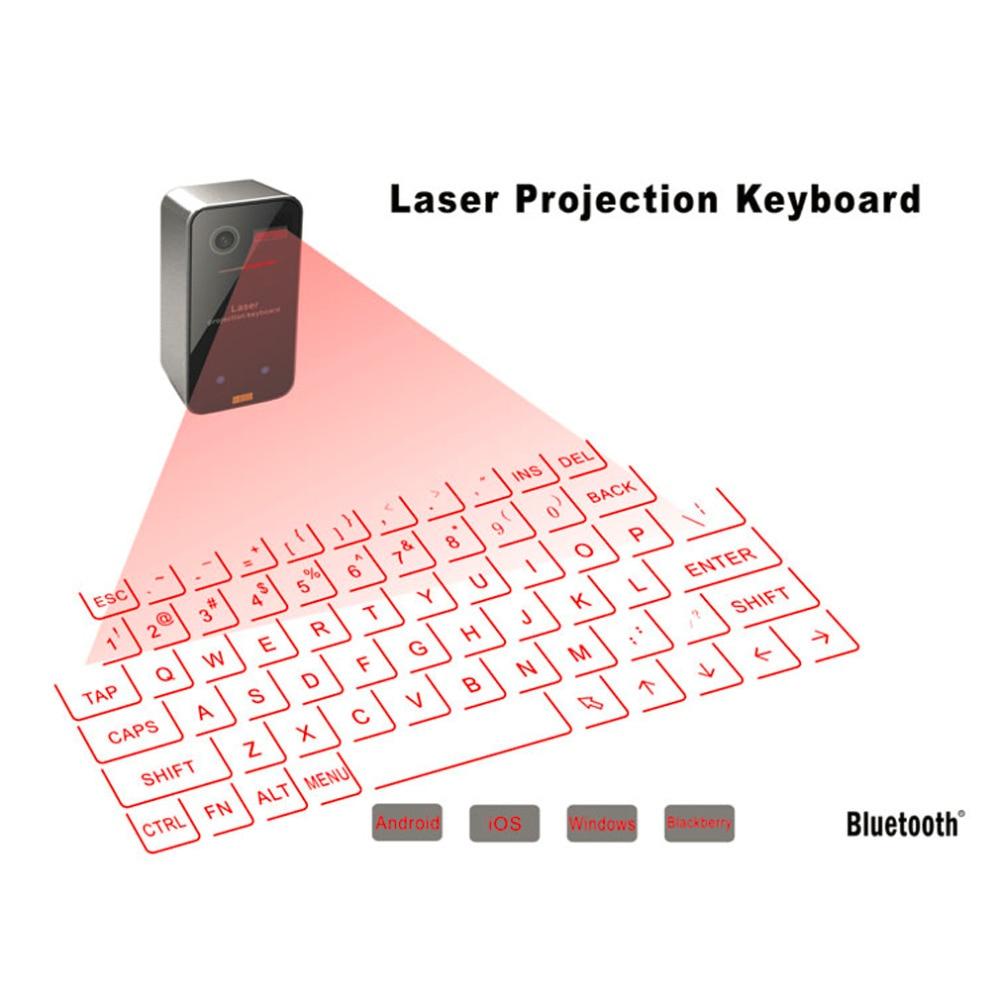 لوحة مفاتيح ليزر افتراضية بلوتوث متوافق مع لوحة مفاتيح الهاتف الإسقاط اللاسلكي ، وتستخدم في الكمبيوتر المحمول الكمبيوتر ، ذات جودة عالية