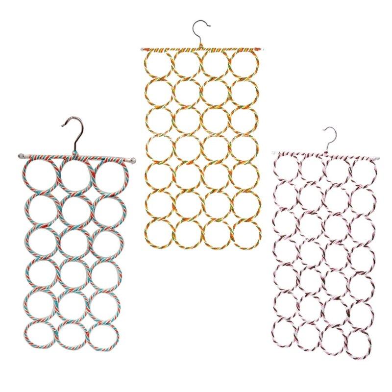 Вешалка для шарфов, органайзер, держатель, 28 петель, шкафчик для шарфов, рандомные цвета 83XF