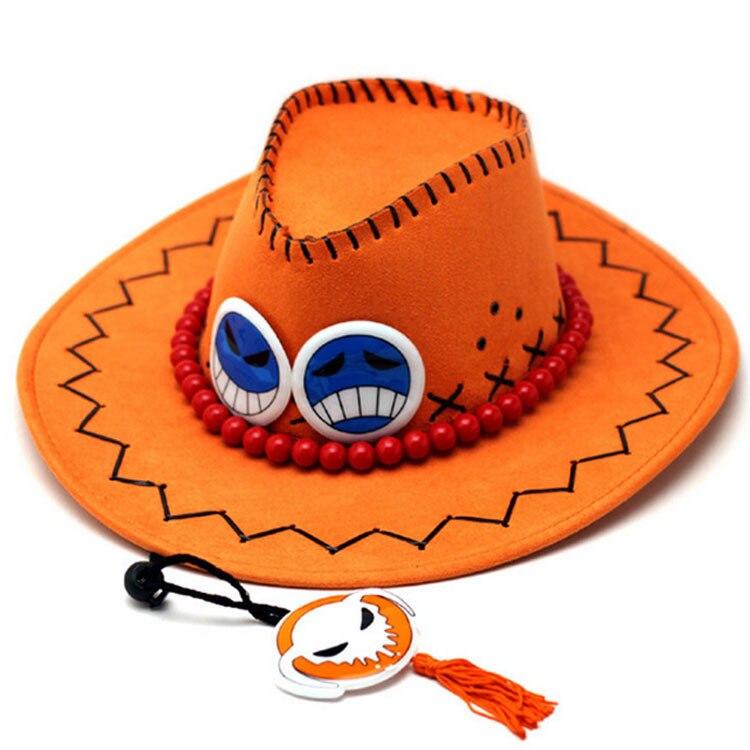 Anime One Piece D Ace Luffy Cosplay Cowboy hats men Women Travel Cap Chopper Tony Pirates Caps Skull Toys costume Halloween hat недорого