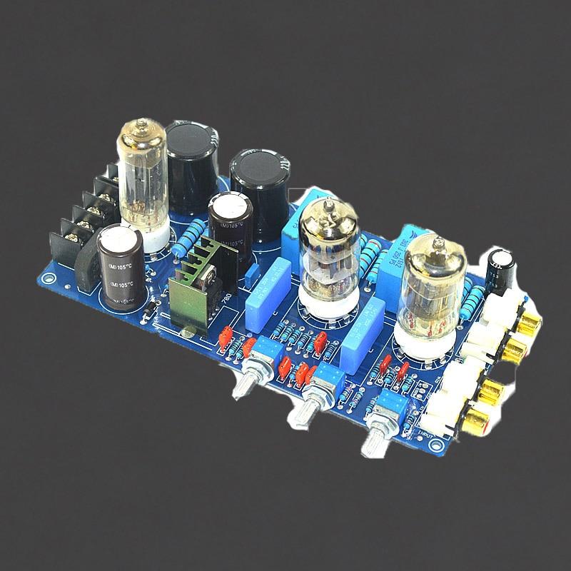 KYYSLB AC Double 150V AC8V AC6.3V Tube Amplifier Tone Board 6N1 Home Audio Bile Preamp Tone Board 220UF/250V 1% Metal Resistance