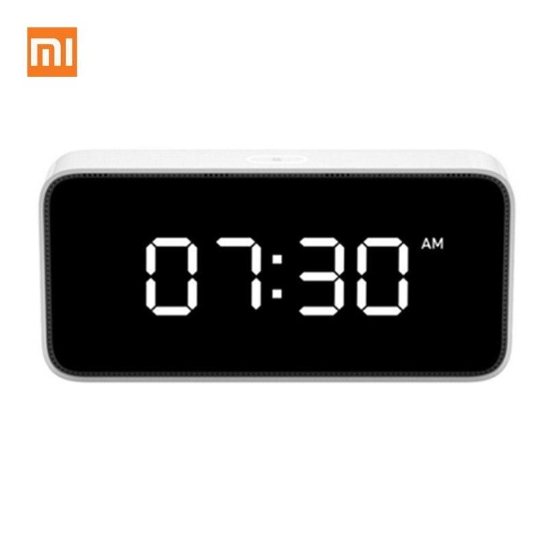 Original Xiaomi Xiaoai Smart Wecker AI Stimme Broadcast Uhr ABS Desktop Uhr Automatische Zeit Kalibrierung Smart Mi Hause App