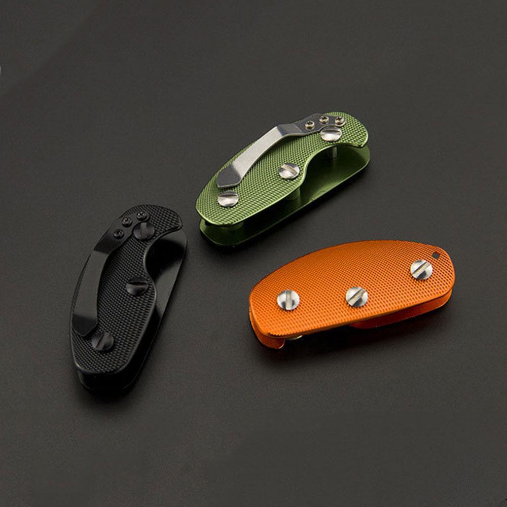 Llavero portátil creativo de aleación de aluminio al aire libre senderismo Camping organizador de llaves multifunción Clip de bolsillo carpeta