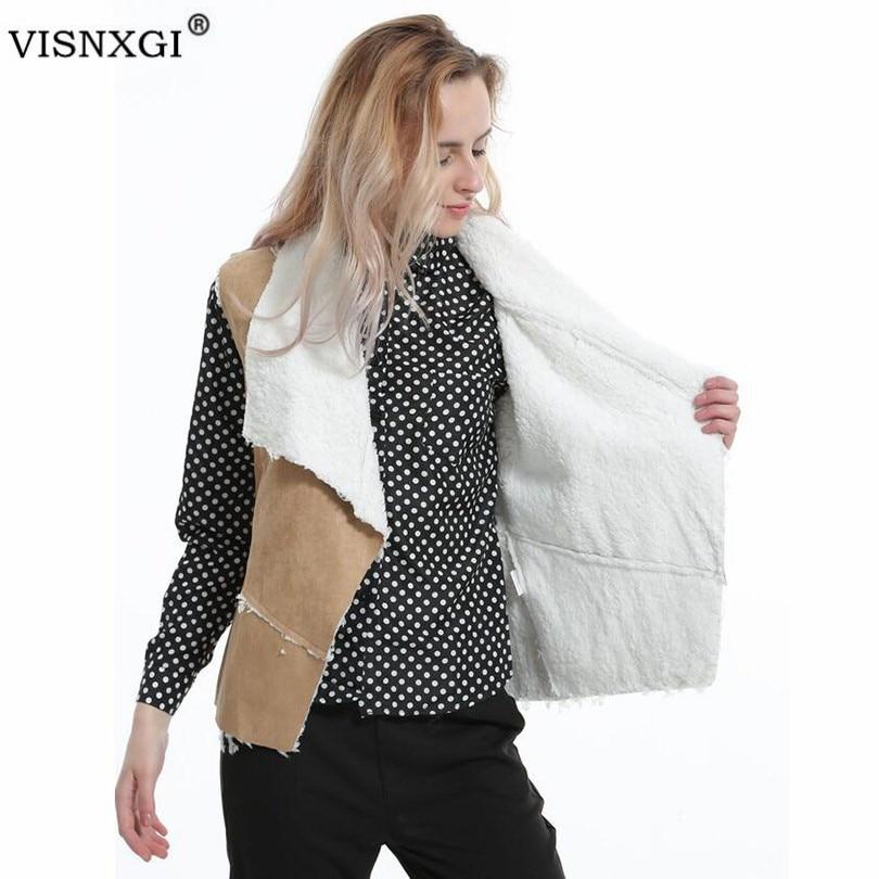 Chaleco para mujer, versión de Casual, Color sólido, gamuza, chaleco sin mangas de mujer, moda, tendencia, temperamento, cárdigan, abrigo de piel de ante S225