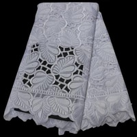 12 colors 5yardspc pure white swiss cotton lace hand cut african voile lace fabric with embroidery high quality clp439