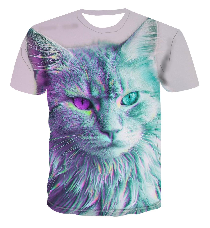 Popular animal diseño creativo 3D camiseta de impresión verano Top hombres psicodélicos mareos/color street style versátil s-6xl
