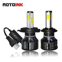 aotoink 4 side car led headlight bulb h1 h7 h8 h9 h11 h4 car fog light 60w 20000lm 6000k ultra cool hb3 hb4 car headlight