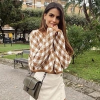 ardm womens argyle cardigan mujer vintage plaid england style geometric long sleeve cut wnter ropa de mujer 2020 croped tops