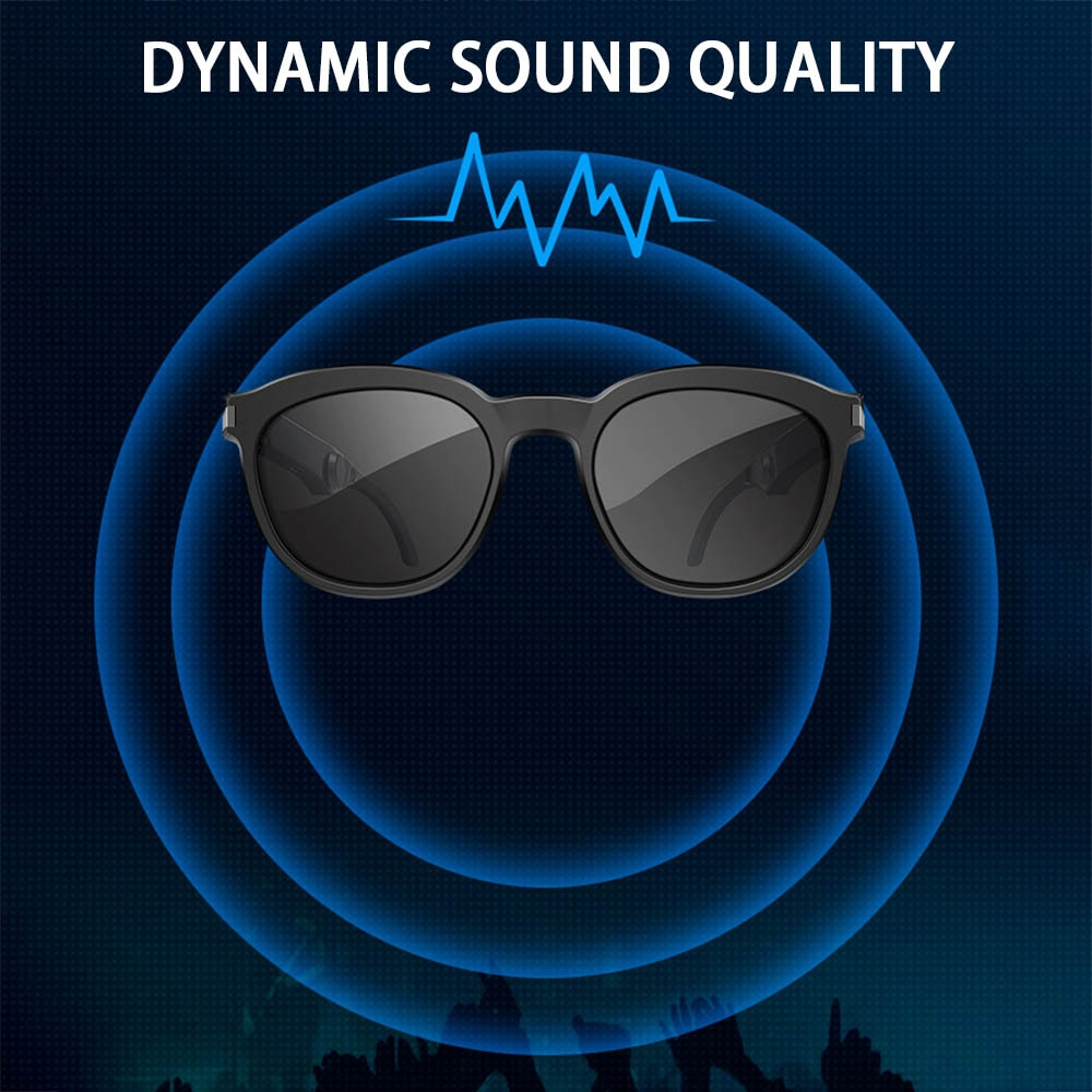 Bluetooth Audio Smart Sunglasses Bone Conduction Glasses Open Ear Headset Hand-Free Calling and Music enlarge