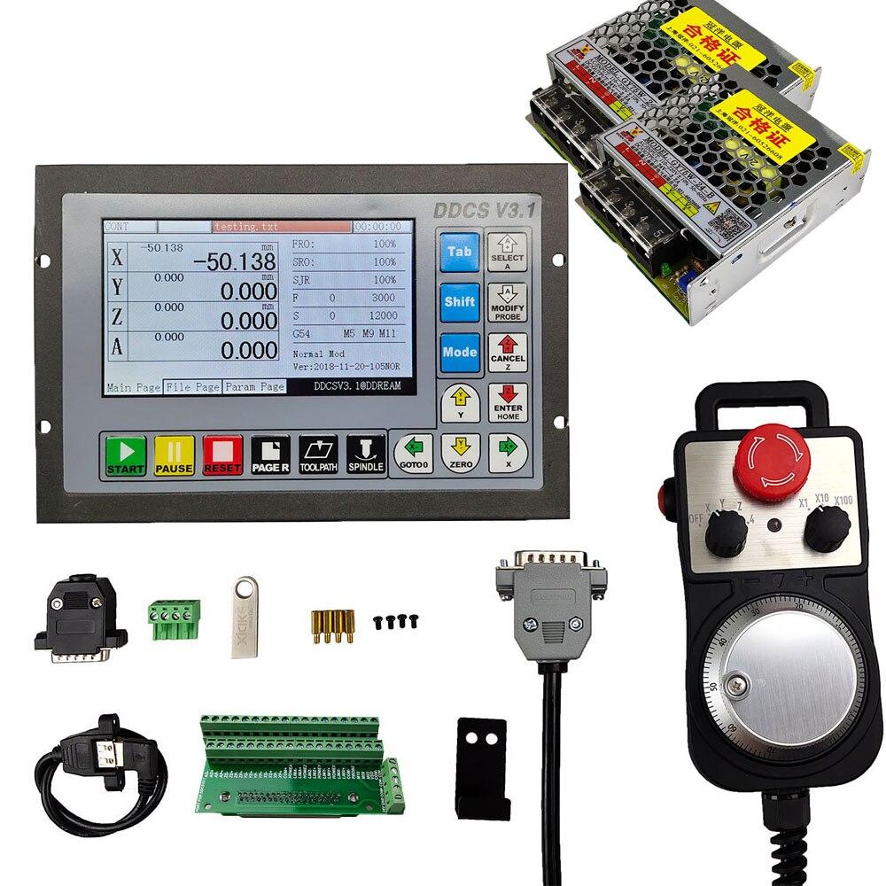التحكم باستخدام الحاسب الآلي الخطيئة conexión DDCSV3.1, 3/4 ejes, 500KHz, código G, parada de الزمرد دي 4 ejes, رويدا دي مانو الكهربائية MPG
