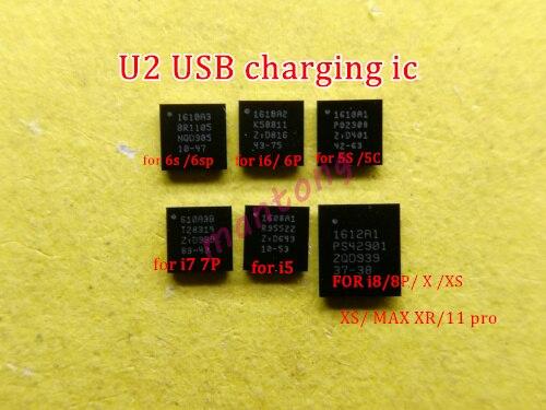 20pcs 1610A1 1610A2 1610A3 610A3B 1612A1 carregador carregamento ic para iphone 5S 6 6plus 6s 6sp 7 7plus 8 8P X U2 usb chip ic 36 pinos