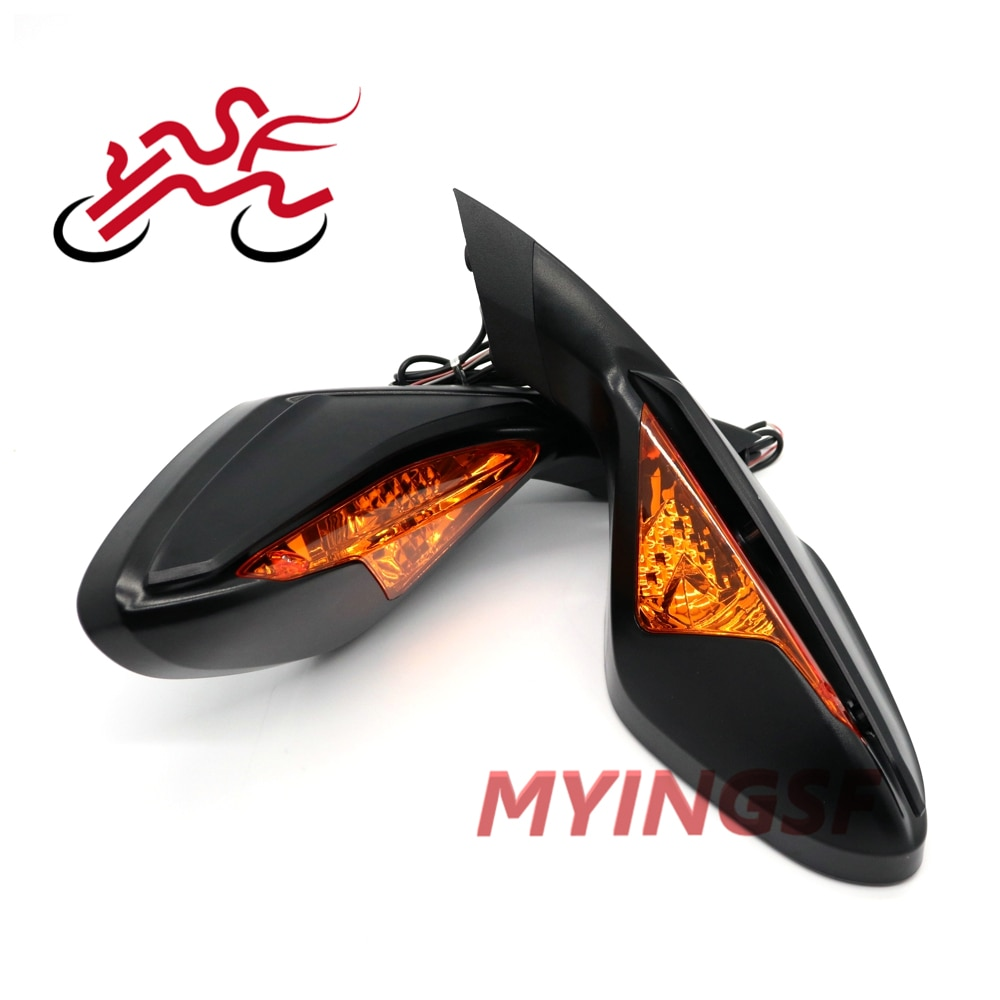 For MV Augusta F3 675 2012-2018 800 2013-2017 Motorcycle rearview mirror with turn signal light,reverse reflector