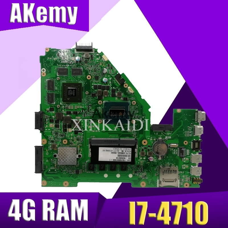 Akemy X550JK اللوحة لابتوب ASUS X550JX X550JF X550JD X550JK X550J اللوحة 4G-RAM I7-4710HQ GTX850M/2GB
