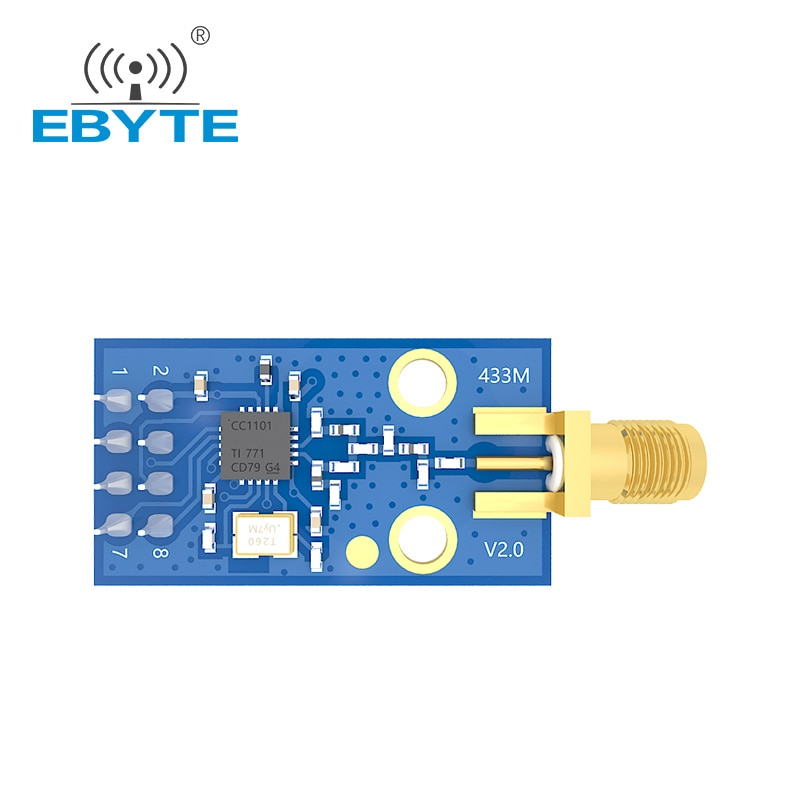 q118 rak439 low power tiny size high speed spi wifi module integrate tcp ip stack wireless iot module with external antenna E07-M1101D-SMA Low Power Wireless Transceiver Module 433MHz CC1101 Development Board Small Size SPI Iot Communication Module