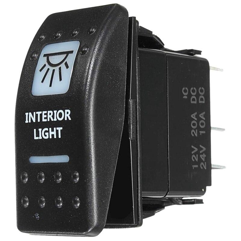 1 Uds interruptor basculante ligero Interior blanco para UTV ATV todoterreno Can-Am Maverick X3 2017 2018
