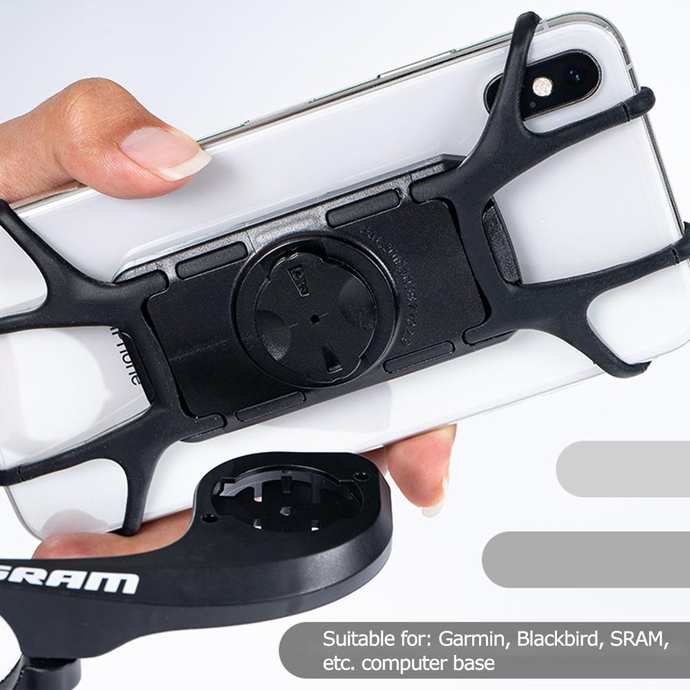 FOR Sram Garmin Bike Phone Holder Bicycle Mobile Shockproof Motorcycle Silicone Mount M4H8