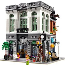 15001 Brick Bank Creator Series City Street Model 2413Pcs Building Blocks Bricks Toys Compatible lepining 10251 Gift Children