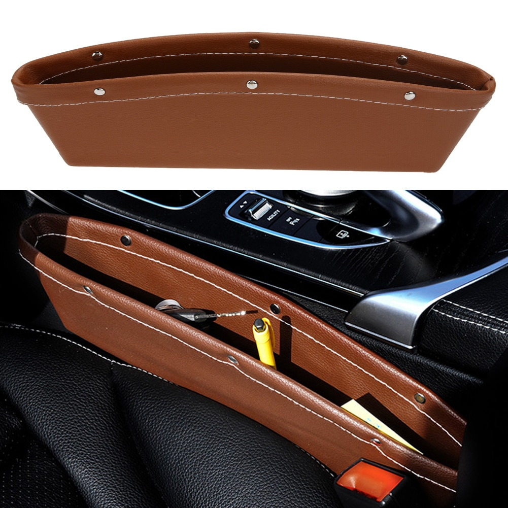 Caja de cuero para Catch de coche, organizador de coche de PU,...