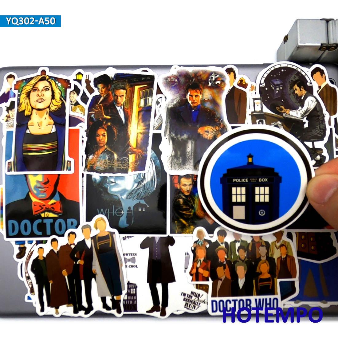 Pegatinas de estilo de ciencia ficción de la serie de TV clásica Doctor Who, 50 Uds. De juguetes para maleta para portátil, Skateboard, pegatina para funda de teléfono móvil