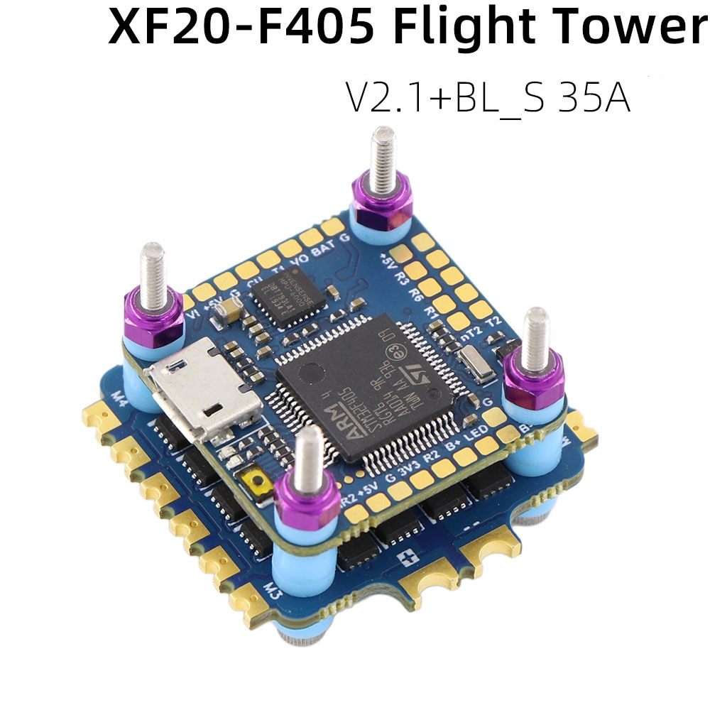 CYCLONE XF20-F405 F4 OSD Flight Controller w/ Current Sensor & 35A BL_S 2-4S 4in1 ESC Stack For RC FPV Racing Drone RC Parts