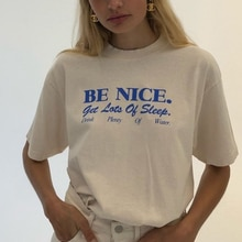 Women T Shirt Be Nice Inspirational Quotes Harajuku Tumblr Cute Oversized T-Shirt Female Grunge Aesthetic Graphic Tee Tops