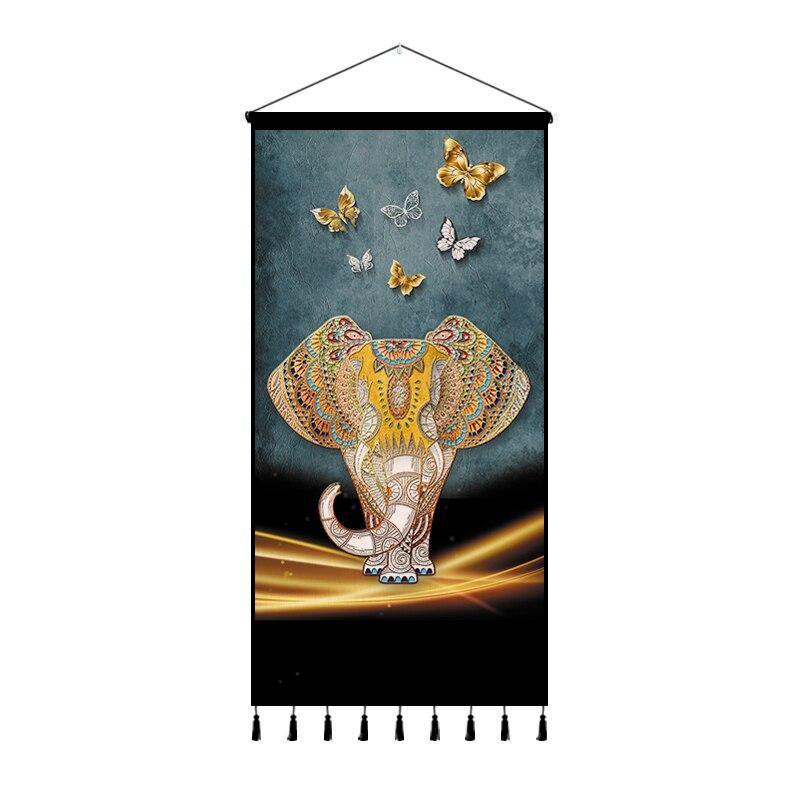 Tapiz de elefante, arte estético bohemio, Tapiz de Yoga, macramé, Mural, decoración de dormitorio, Tapiz, Tela, decoración de dormitorio, AC50TA