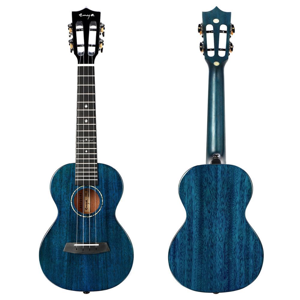 "Enya MAD Ukulele Concert Tenor Electric 23"" 26"" Ukelele Solid Mahogany Acoustic String Instruments Mini Guitar with Bag Pickup enlarge"