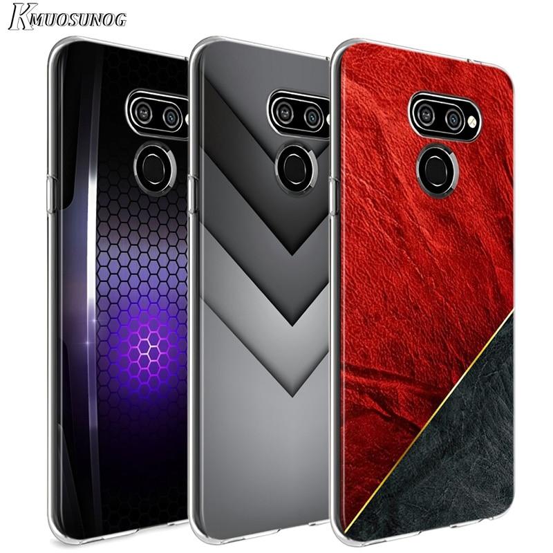 Preto Escuro Luz Figuras para LG W20 W10 V50S V50 V40 V30 K50S K40S K30 K20 Q60 Q8 Q7 Q6 G8 G7 G6 ThinQ Caso de Telefone