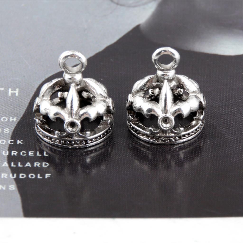 20Pcs Zilver Kleur Koningin Crown Charms Maken Rijk Keizer Hanger Kettingen Handgemaakte Sieraden Wholesale16X13mm A3316