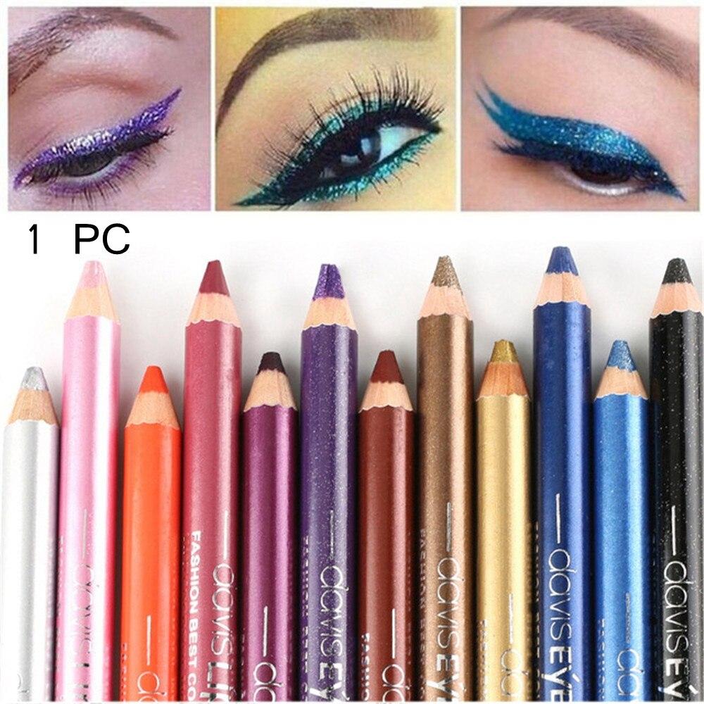 Lápiz con sacapuntas, iluminador, resistente al agua, lápiz sombreador de ojos, cosmético, 1 unidad