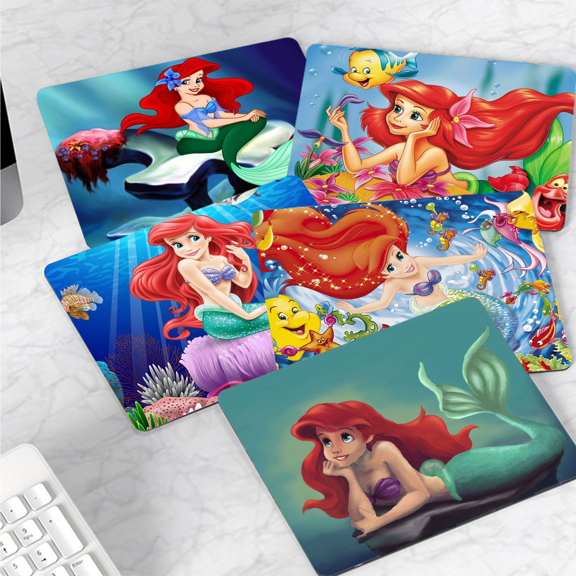Disey The Little Mermaid Princess MousePads Computer Laptop Anime Mouse Mat Smooth Writing Pad Desktops Mate gaming mouse pad maiya funny tie dye customized mousepads computer laptop anime mouse mat smooth writing pad desktops mate gaming mouse pad