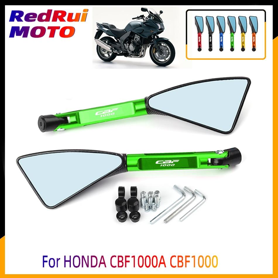 For HONDA CBF1000A CBF1000 A Universal Motorcycle Accessories CNC Aluminum Blue Lens Rear View Side Mirror Laser Logo(CBF1000)
