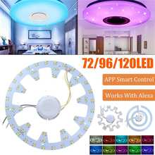 في حالات الطوارئ استبدال PCB عدة WiFi APP التحكم الذكي LED الدائري مصباح أنبوبي الشكل مع سائق LED ضوء السقف 36 واط/48 واط/72 واط مصباح إضاءة معدل