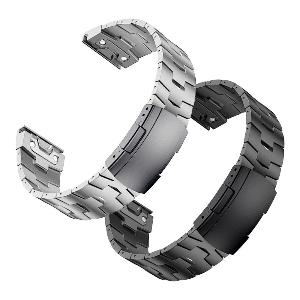 QuickFit التيتانيوم + معدن الفولاذ المقاوم للصدأ المشبك حزام للغارمين quatix 6X 6 5 3 حزام (استيك) ساعة 22 مللي متر 26 مللي متر EasyFit سوار مربط الساعة