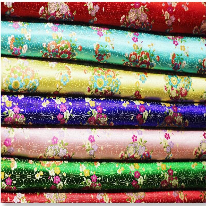 Estilo japonés Damasco en jacquard tela para abrigo cortina Mesa paño sofá cojín tapicería patchwork DIY tela