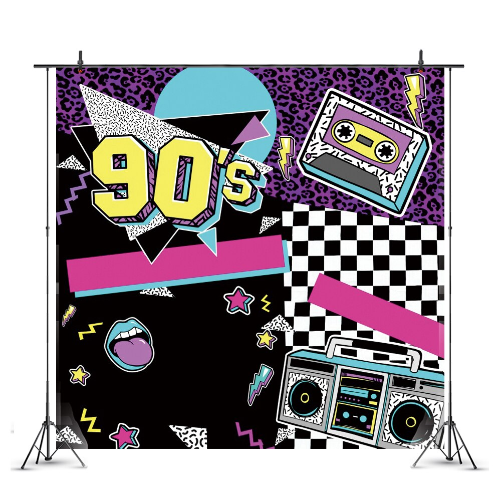 photography background soul train photo booth props party decorations disco birthday banner photo background tv dance background 90s Photography Backdrop Disco Hip Hop Happy Birthday Party Dance Disco Photo Background Banner
