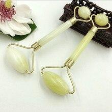 Soportes de masaje Facial, 1 Uds., para Belleza natural de pie, cabeza, cuello, rodillo de Jade para mujeres y hombres