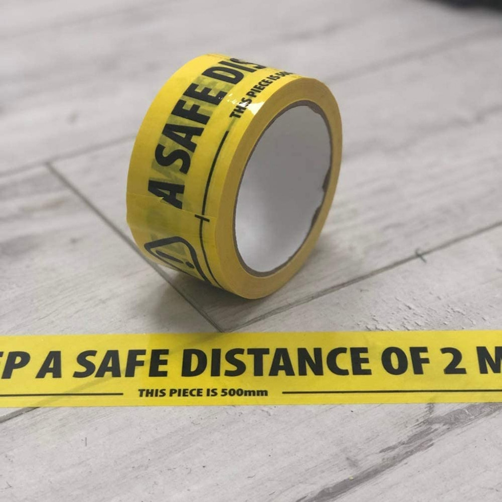 Safety Tape 2 Metre Aparts Social Safe Distancing Floor Tape 33mx48mm Isolation Floor Tape Safety Sticker Tool sale