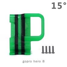 IFlight vert Hornet caméra montage impression 3D housse de protection pour GoPro Hero 5/6/7/8 montage 10 °/15 ° FPV course Drone CineWhoop