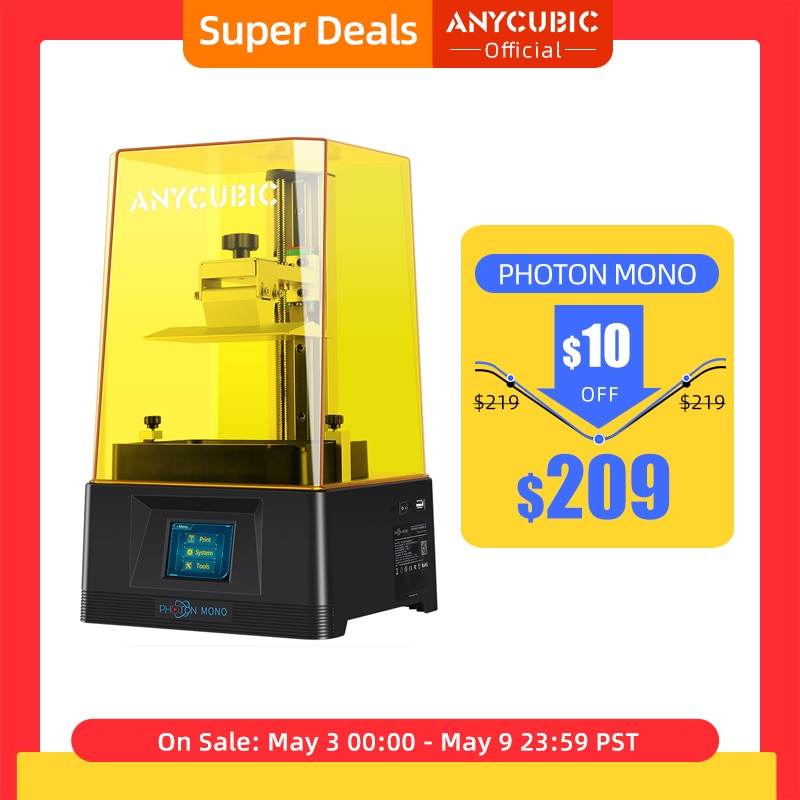 aliexpress.com - ANYCUBIC Photon Mono 3D Printer UV Resin Printers with 6 inch 2K Monochrome LCD Screen & Fast Printing Speed 130x80x165 mm