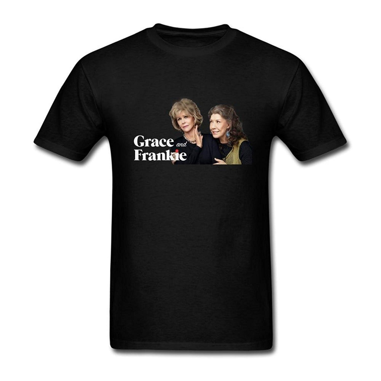 Camiseta de moda Hipster Cool Tops Fengting para hombre Grace y Mitsubishi Comedia Drama Tv Logo Camiseta de manga corta
