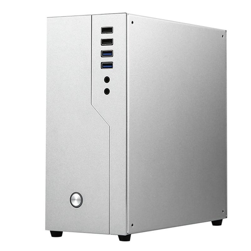 حافظة كمبيوتر HTPC Mini ITX ، ألومنيوم ، سطح مكتب ، فتحة واحدة ، PCIE