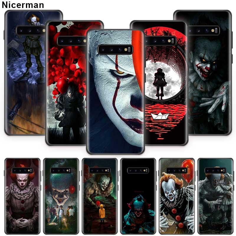 Pennywise Clown horreur étui pour samsung Galaxy S10 S8 S9 S7 Plus S10e Note 10 9 8 10Plus 5G Coque de téléphone en Silicone noir automne