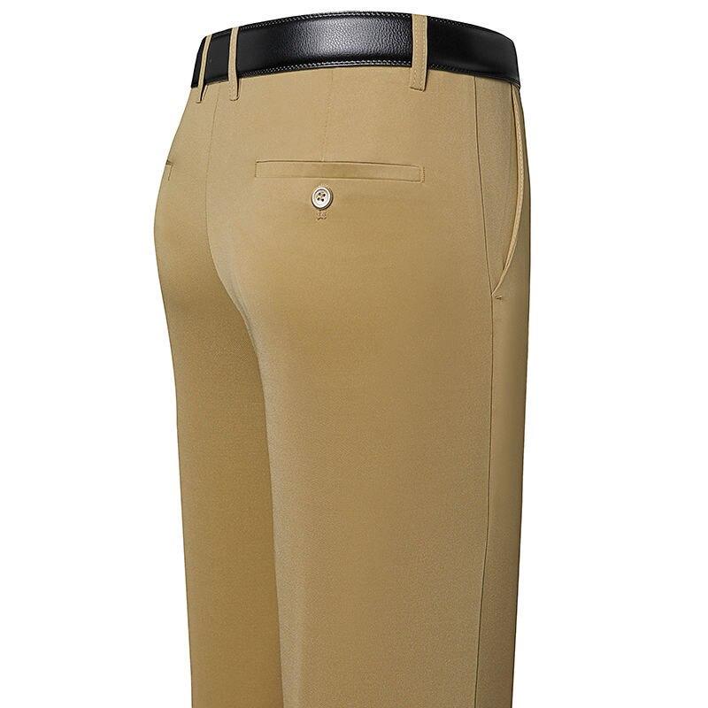 Новый дизайн, осенние мужские повседневные штаны Свободные весенне-осенние мужские штаны высокого качества с эластичной резинкой на талии,...