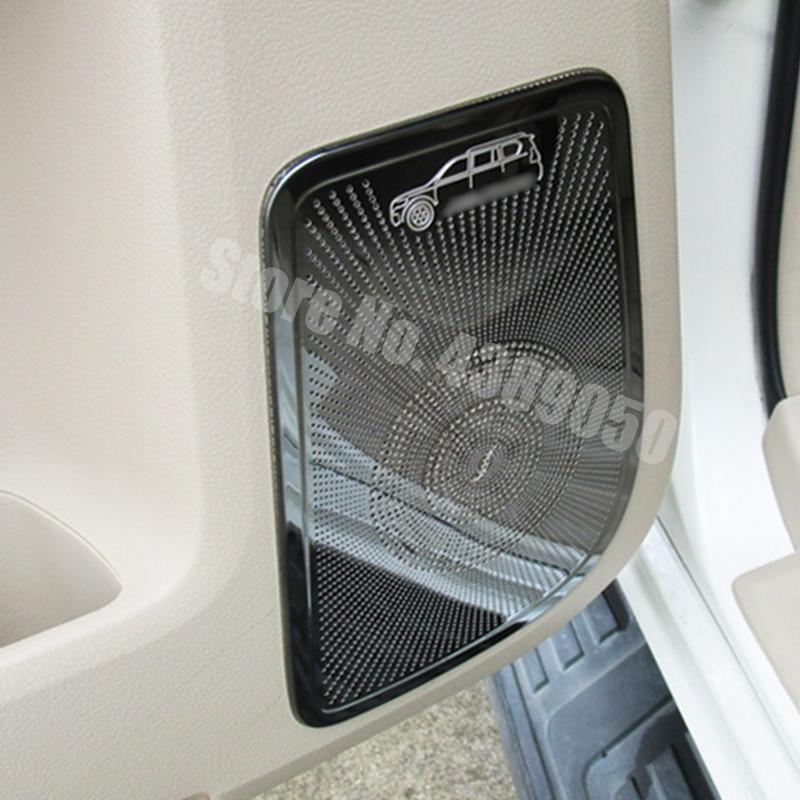 Para Toyota Land Cruiser Prado 150 J150 LC150 accesorios para coche 2010-2018 Acero inoxidable puerta interior de coche bocina cubierta de altavoz
