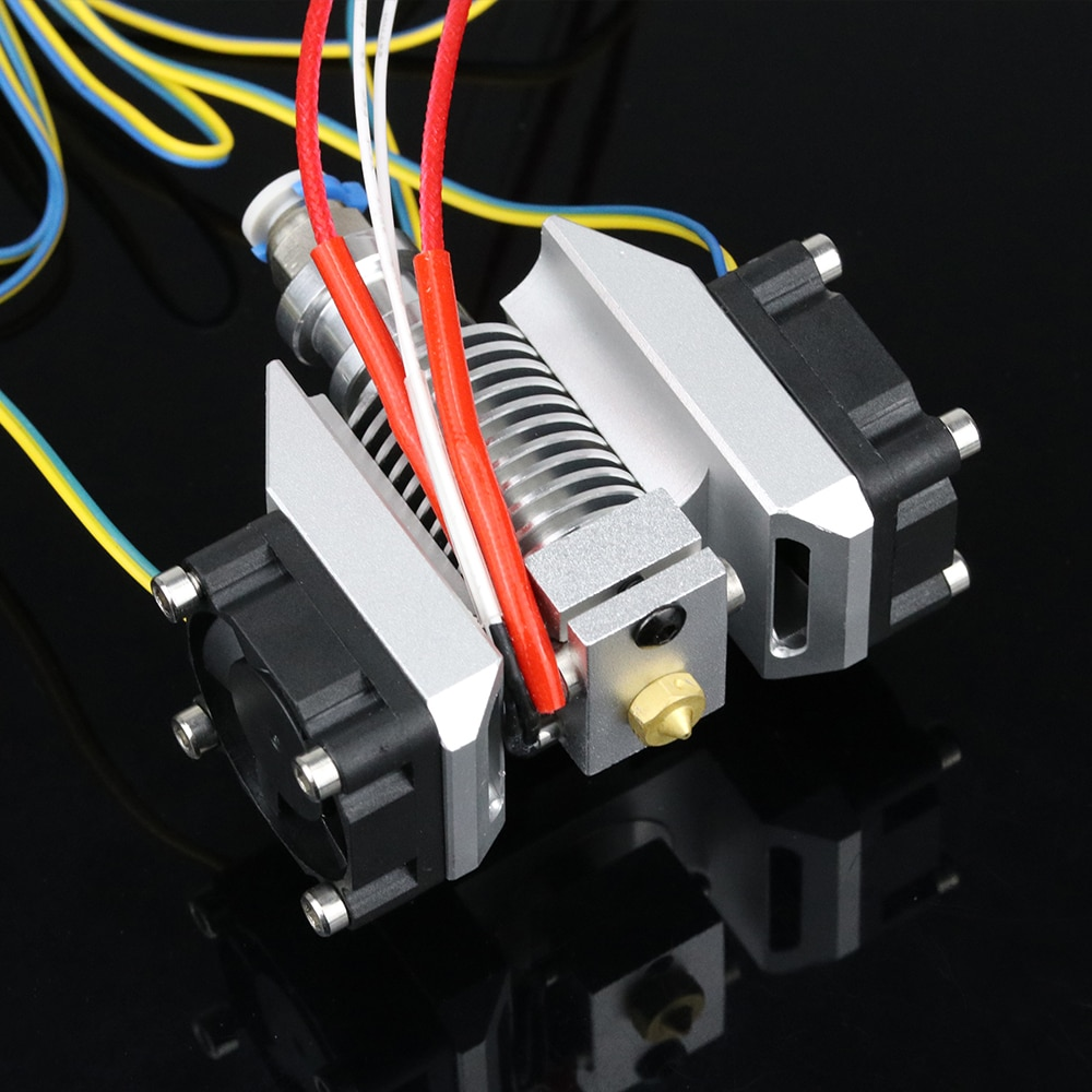 V6 عدة رؤوس معدنية مطبوعة مع مروحة تبريد فائقة مجاري الهواء + V6 مغسلة حرارية دائرية + 3010 مراوح تبريد لا تنتهي لـ Titan UM2