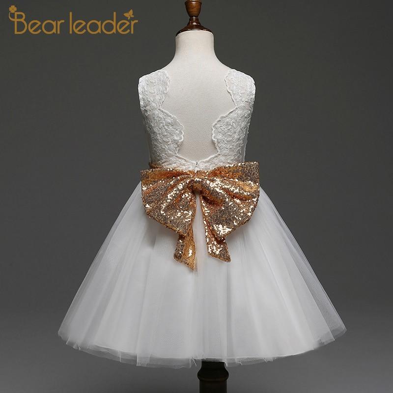 Bear Leader Girls Dress 2020 Summer Sequined Sling Princess Dress Layered Cake Dresses Baby Girl Dress