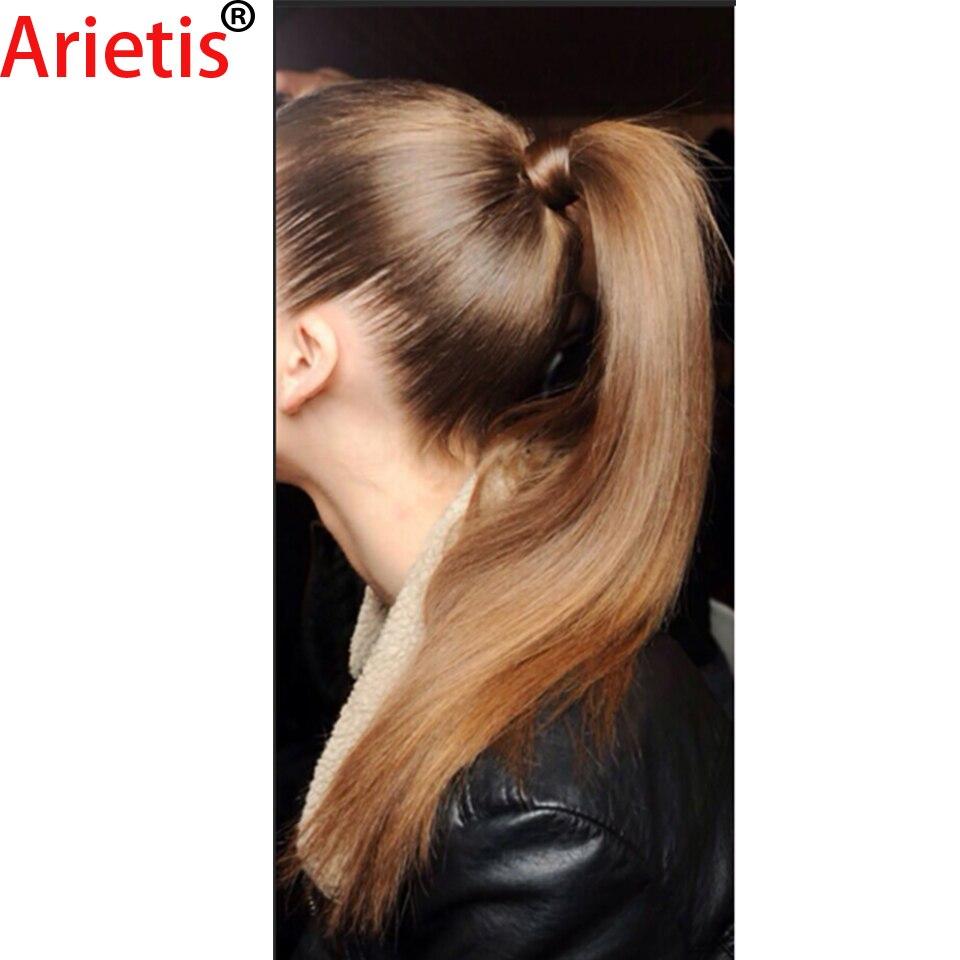 Arietis-وصلات شعر طبيعية ناعمة ، شعر هندي ، 10