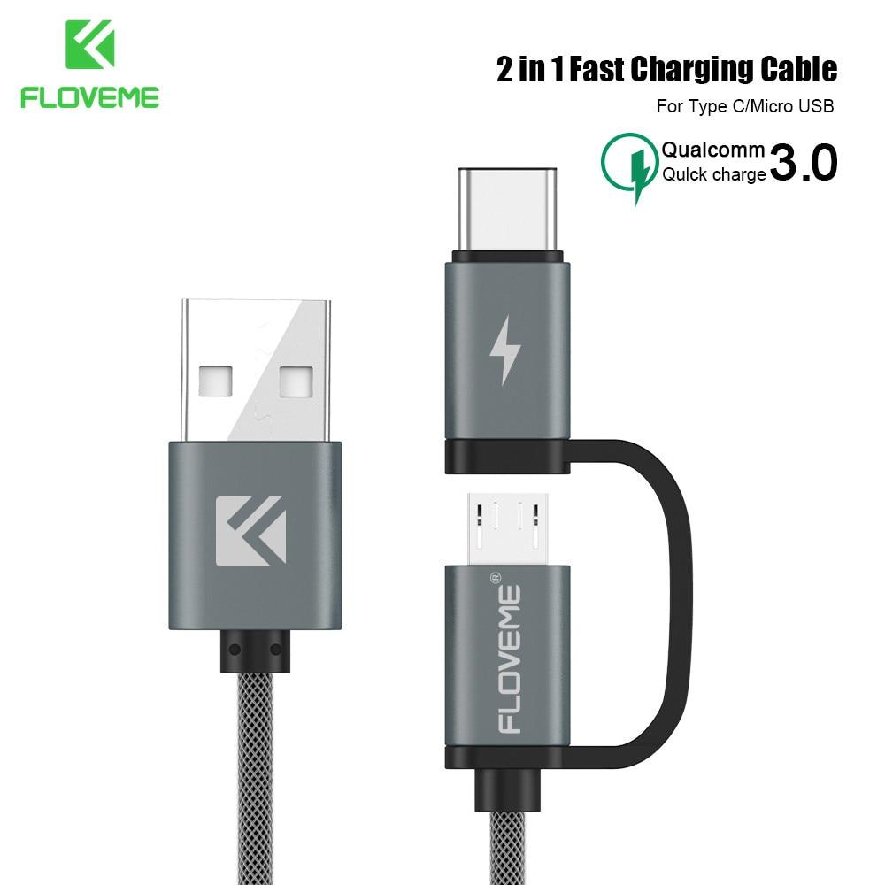 FLOVEME-Cable de carga rápida QC 3,0 para móvil, Cable Micro USB tipo...
